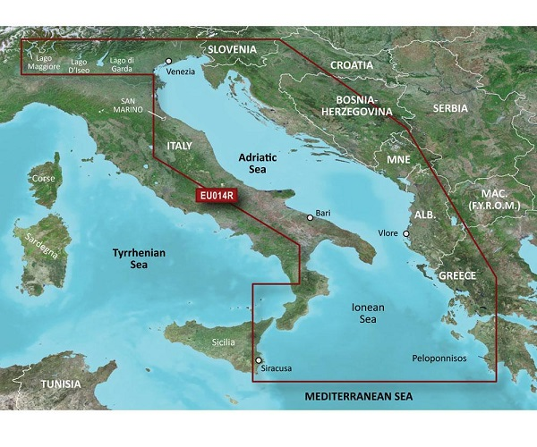 GARMIN CARTUCCIA G2 HXEU014R - Italy, Adriatic Sea - REGULAR