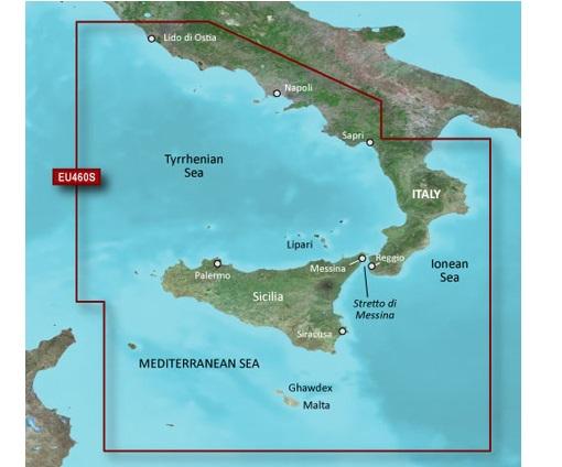 GARMIN CARTUCCIA G2 VISION VEU460S - Sicily to Lido di Ostia