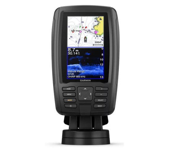 "GARMIN ECHOMAP PLUS 42cv, 4"", 50/77/200 kHz, ClearVü 260/455/800"