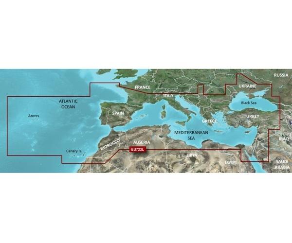 Garmin CARTUCCIA G2 VISION VEU723L - Mediterranean Sea & Black S