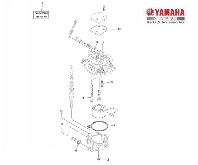 YAMAHA KIT REVISIONE CARBURATORE  6DR-W0093-00